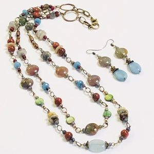 Muted Colors of Mother Nature Necklace & Earrings
